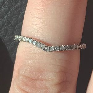 SOLD Curved diamond band